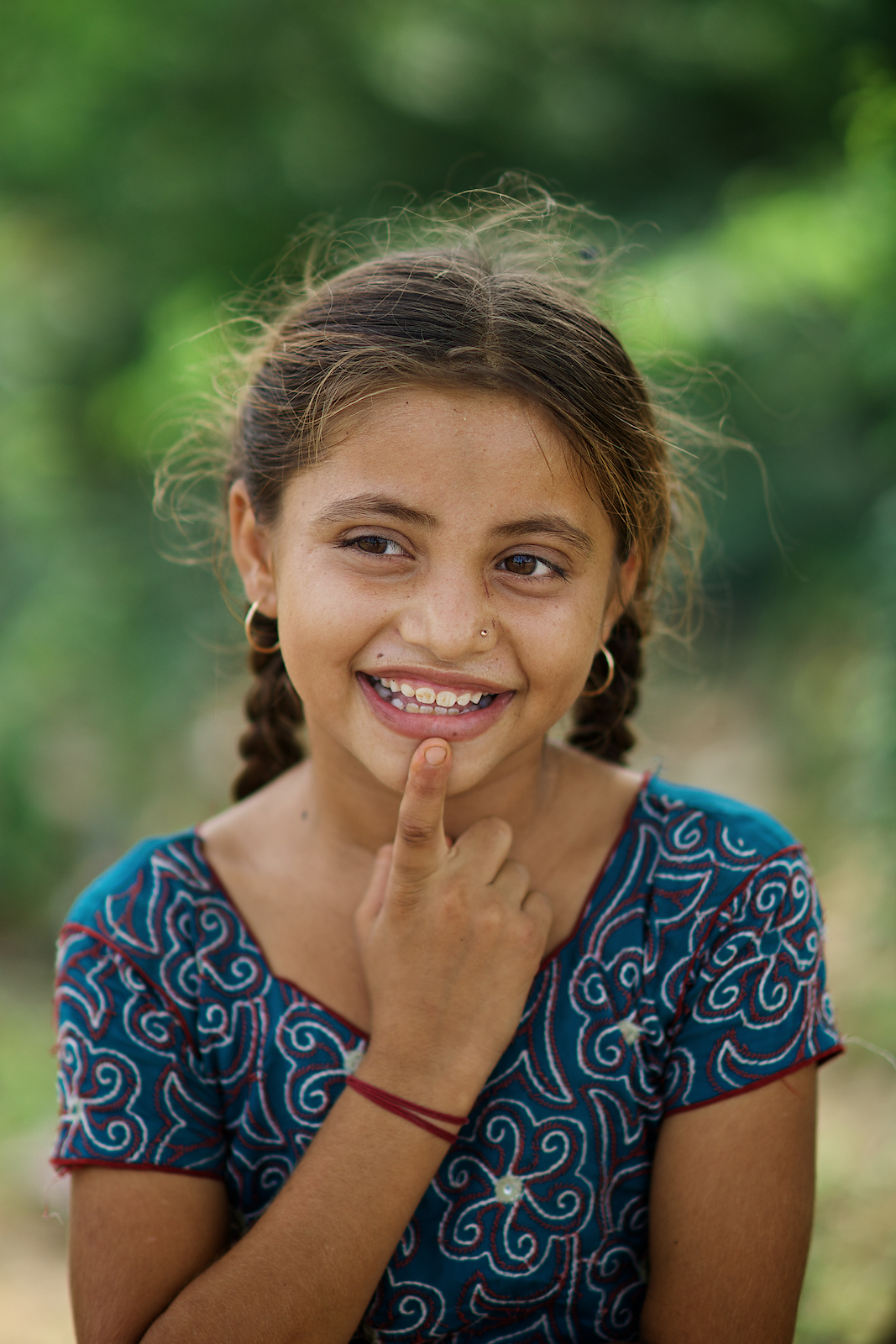 Cute Indian Little Girl In A Village Next To Buhj, Gujarat -4991