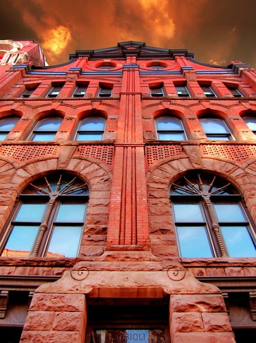 """county sunset red sky ny building brick st architecture clouds square anne apartments district clinton style explore architect syracuse historical armory 1001nights romanesque gem billings donohue """"new onondaga york"""" nrhp 1001nightsmagiccity onasill officesqueen"""