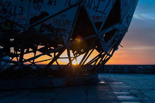 sunset berlin abandoned radome 2014 teufelsberg nsafieldstation inscom