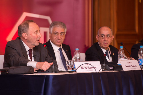 Speakers during ERF annual conference