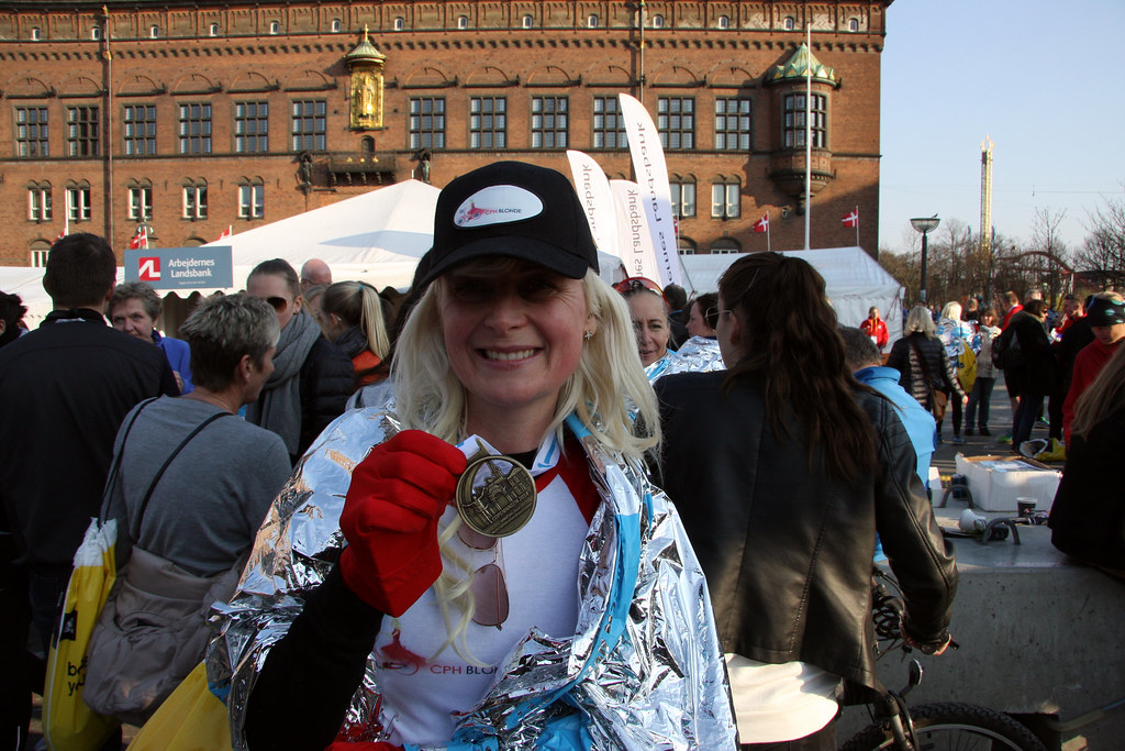 Finisher! At Copenhagen Half Marathon - Mass Race