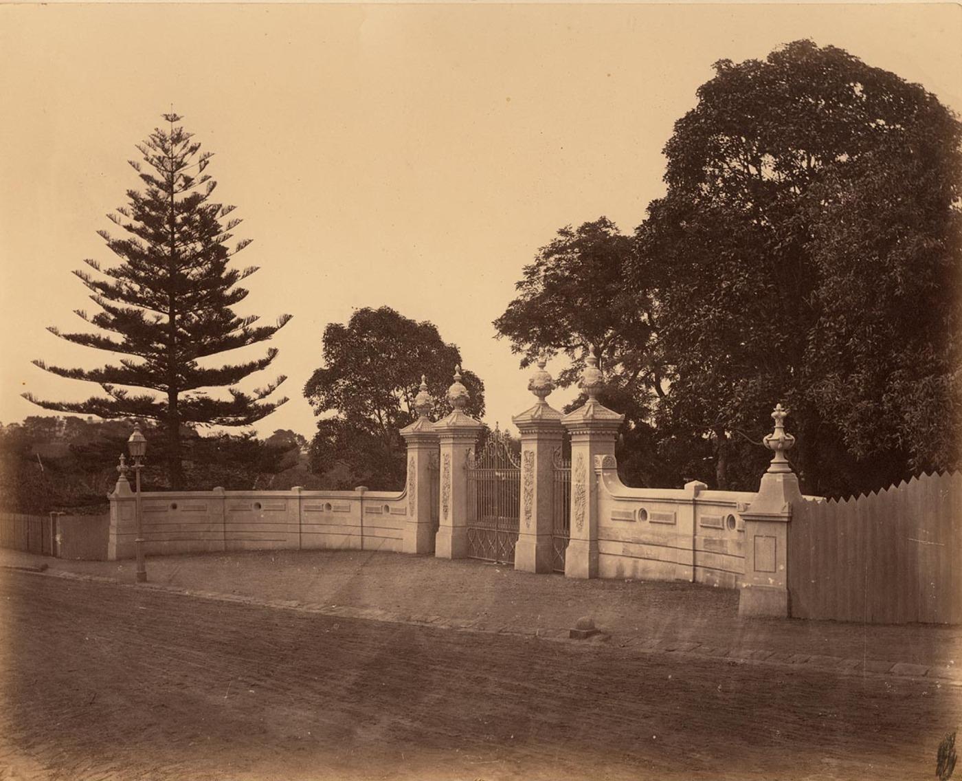 [Entrance gates to the Botanic Gardens, Domain, Sydney]
