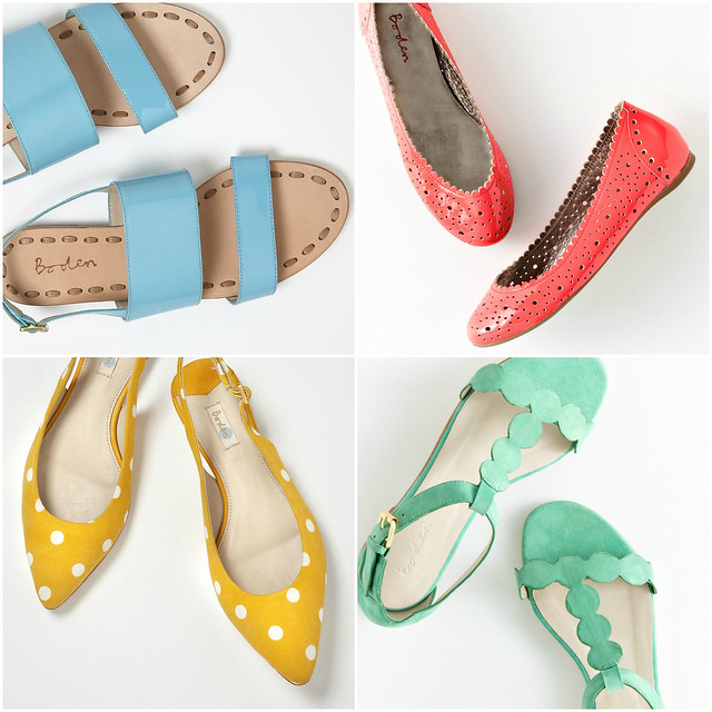 Boden shoes_easter color collage_serrana sandal_cut out pump_palma sandal_pointed slingbacks