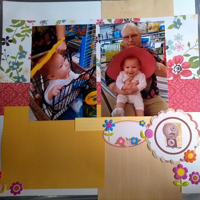 LOAD514 - Scrapbooking layout about silly toddler antics