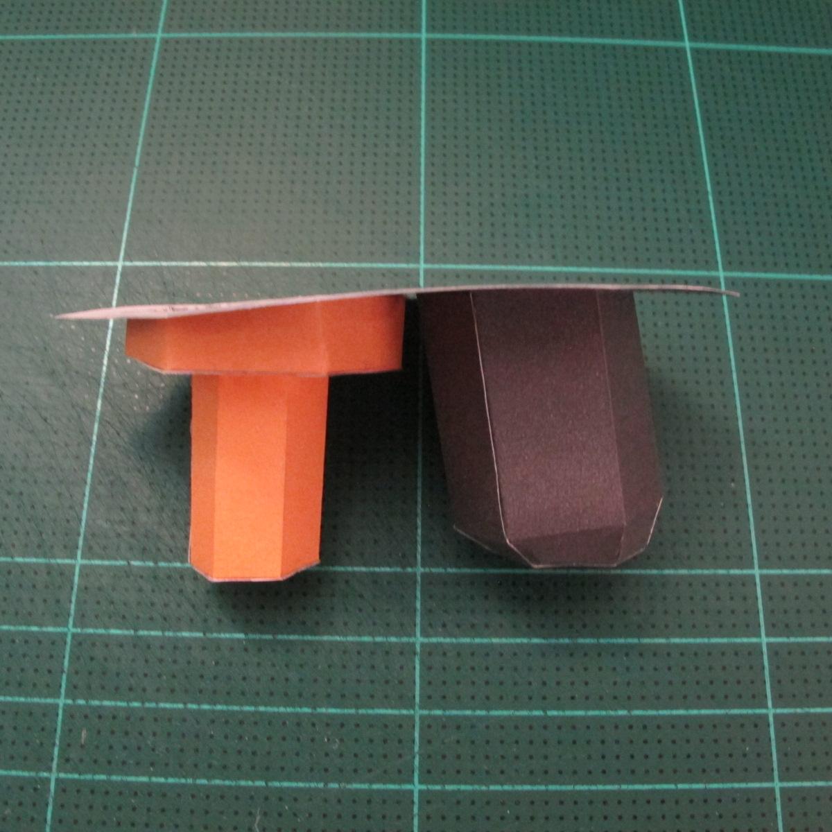วิธีทำโมเดลกระดาษคุกกี้รัน คุกกี้รสโจรสลัด (Cookie Run Pirate Cookie Papercraft Model) 007