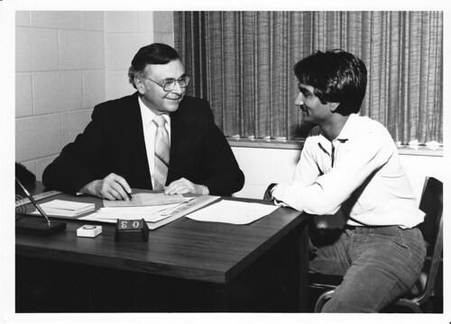 1978 Dr Robert C Strubhar -@ desk w student