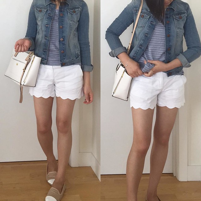 LOFT Denim Jacket in Western Moon Wash Outfit