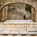 Metafoto en las escaleras de El Escorial by dprats