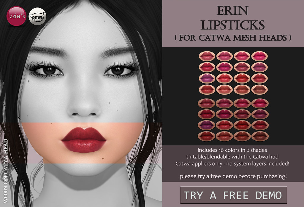Catwa Erin Lipsticks (Skin Fair) - SecondLifeHub.com
