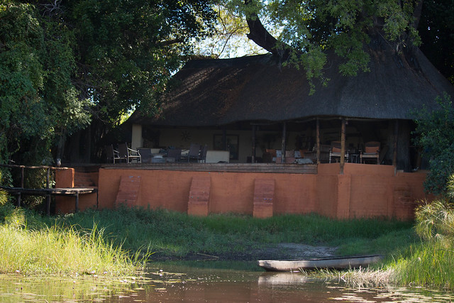 Nxamaseri Lodge from the water