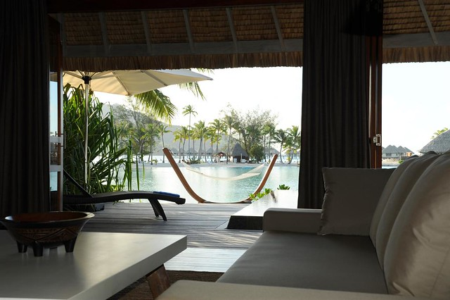 Le Meridien Bora Bora—Suite and Villa Living Room private view