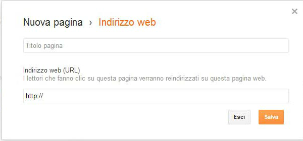 TUTORIAL PER LE PAGINE DI BLOGGER