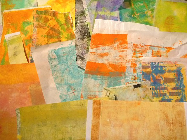 gelli prints to take