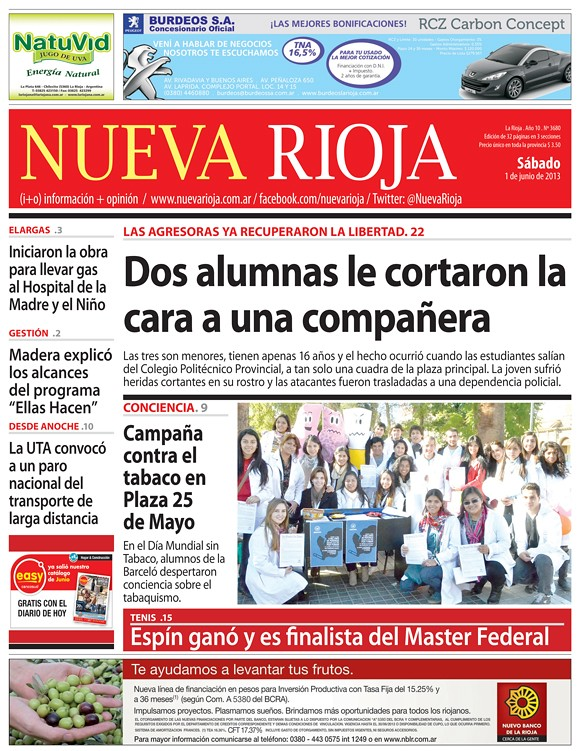 Campaña Día Mundial Sin Tabaco - Nueva Rioja - 1.06.2013
