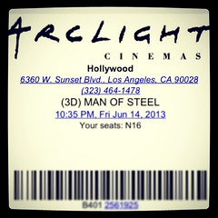 Man of steel with the family at #myarclight #superman #manofsteel #arclightcinemas