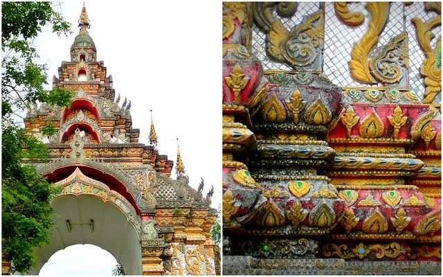 Details of a temple in Chiang Mai, Thailand