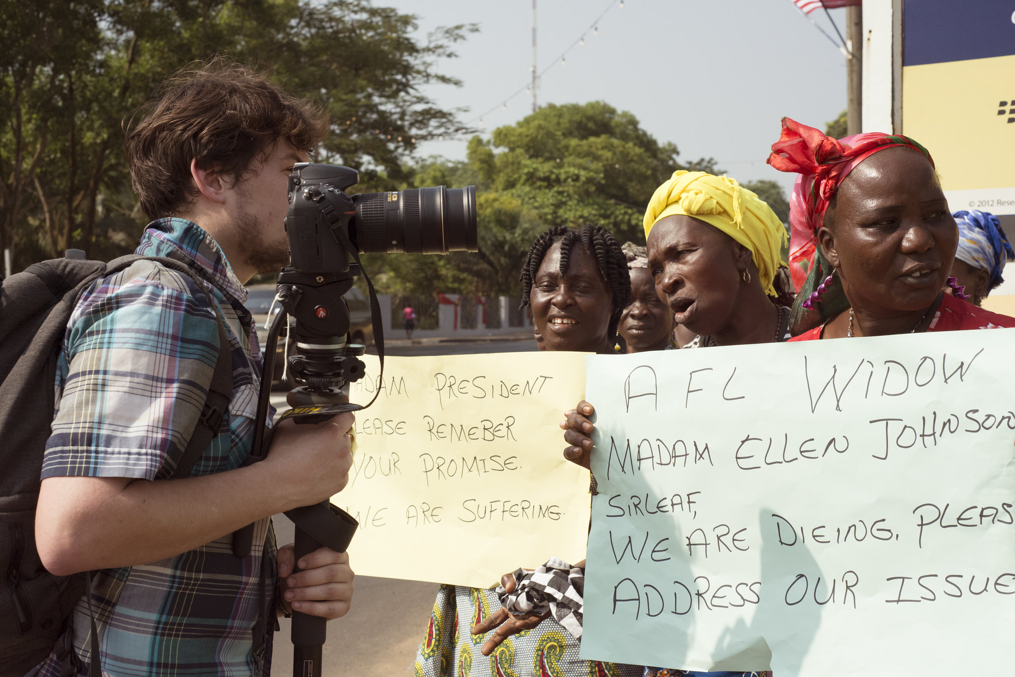 MPD Graduate student Jim Tuttle working in Liberia.