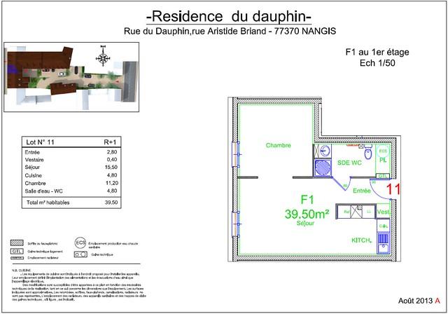 Résidence du Dauphin - Plan de vente - Lot n°11