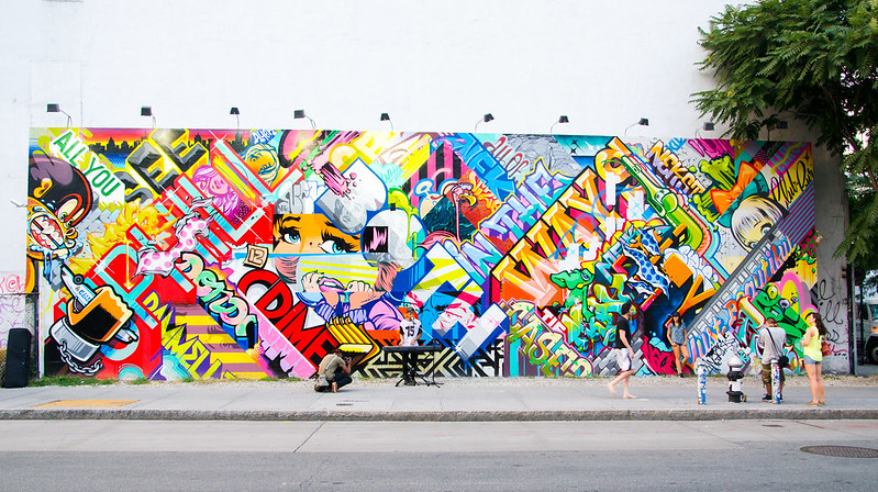 Houston bowery wall for Bowery mural nyc