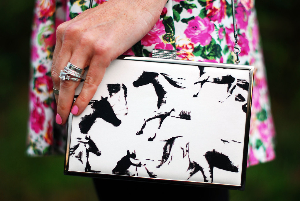 French Connection Wild Horses clutch