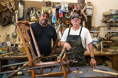 Cecil and Bob McCan from Iron Gate Antiques and Restoration in Bluemont Virginia