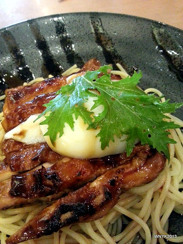 Teriyaki Chicken Pasta with Hot Spring Egg by williamnyk