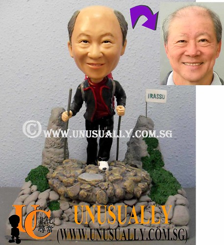 Fully Customized Mountain Climber Clay Figurines - @www.unusually.com.sg