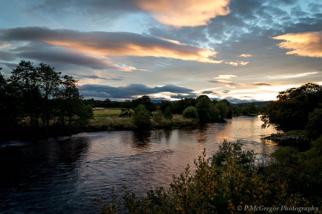 Evening on the river Spey