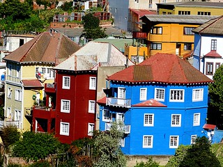 Casas Porteñas - Typical Port Houses in Valparaiso Hills (Valparaiso, Chile)