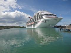 Our ship in St. John's, Antigua