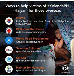 Ways to help people who live in places where Haiyan/Yolanda devastated