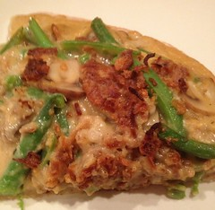 vegan green bean casserole pizza