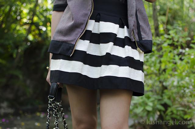 black-and-white-skirt
