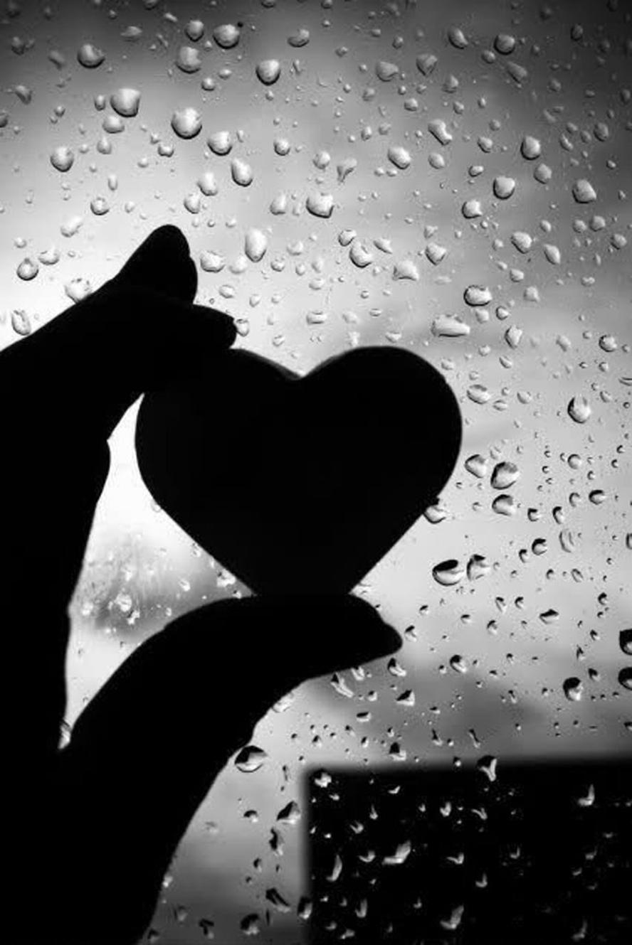 corazón lluvía
