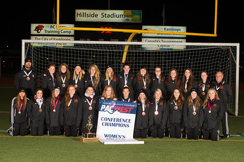 2013-14 TRU WolfPack PACWEST champs and CCAA Bronze medal winners (Nov 17, 2013 Snucins)