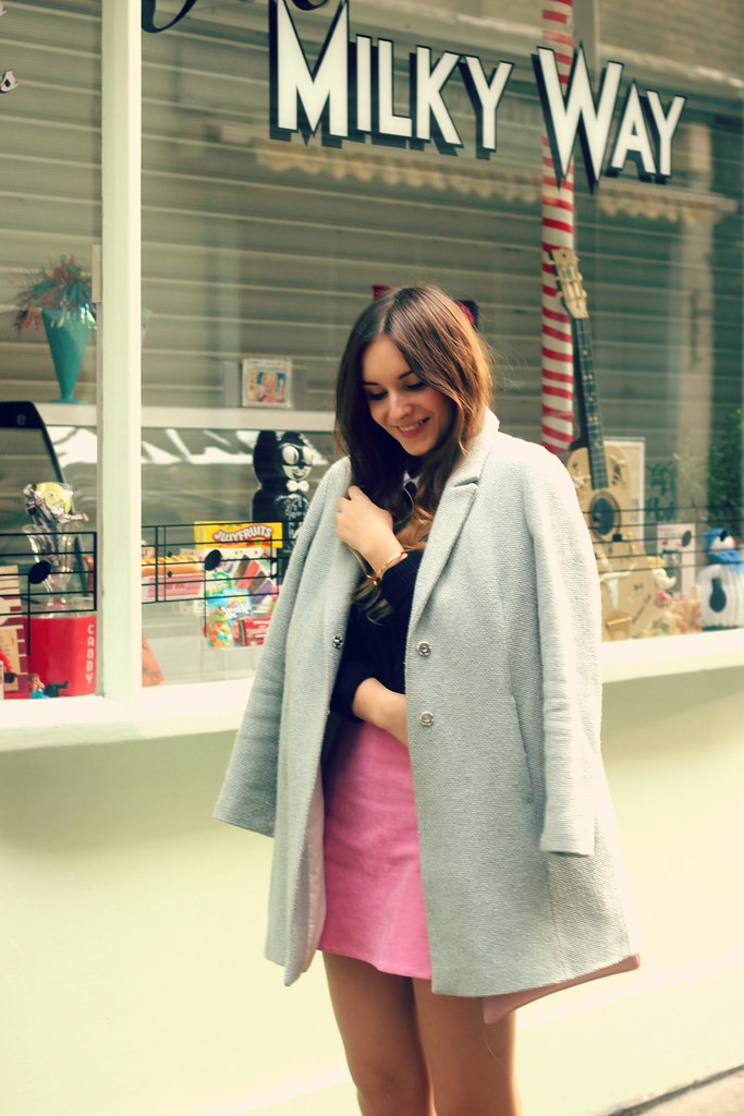 Winter Pastels Blue Topshop Coat