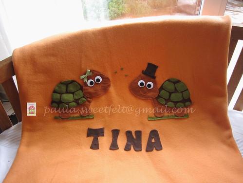 ♥♥♥ Uma mantinha quentinha para a Tina, que gosta de tartarugas... by sweetfelt \ ideias em feltro