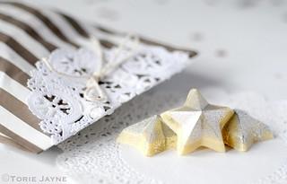 Silver glitter chocolate stars