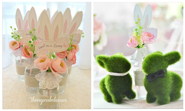 bunny themed centerpiece (2)