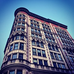 Looked up and my eyes were delighted. Love the Euro-style classical architecture down Madison Ave.
