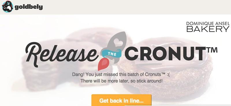 #ReleaseTheCronut