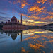 Fiery Sky over Putra Mosque by Nur Ismail Photography