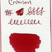 Small photo of Diamine Crimson Ink Swatch