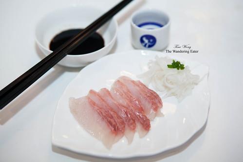 Hamachi (amberjack) sashimi