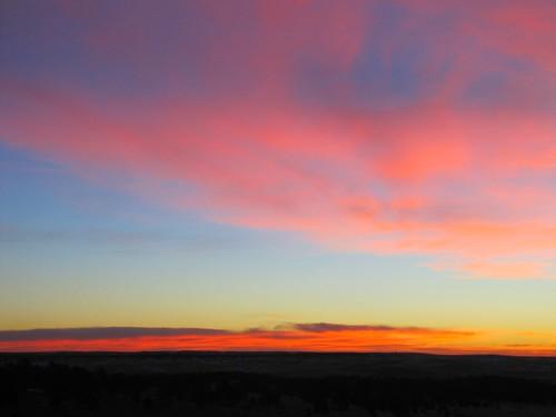 winter sky clouds rural sunrise colorado kiowa