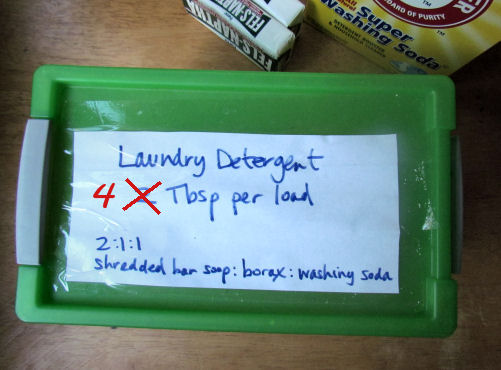 Homemade Laundry Detergent Airtight Box