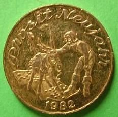 1982 Prosit Neujahr token obverse