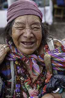 Happy smile in Chichicastenango market