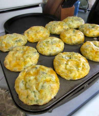 Mini Broccoli and Cheese Frittatas