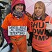 Medea Benjamin of Code Pink and a supporter